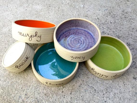 cat bowl small dog bowl cat bowl pet bowl cool cat bowl with words handmade pet bowl ceramic pottery - Cat Bowls