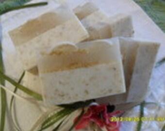 Honey Oatmeal Soap Slice  3.5 x 2.0 x 1.0