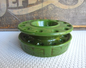Vintage Green Ceramic Flower Frog Made in Japan