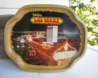 Vintage Fabulous Las Vegas Souvenir Metal Tray