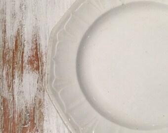 Ironstone Scallopped Plate