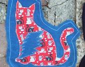 Grateful for Kitties Patches Fundraiser Grateful Dead Phish Cat Feline Hippie Tie Dye Patchwork