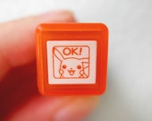 Pikachu Stamp - Tiny Schedule Stamp - Self Inking Stamp - Kodomo no Kao - 10mm square