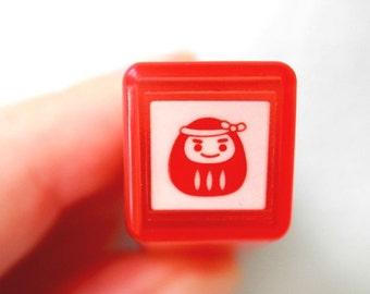 Daruma Stamp - Tiny Schedule Stamp - Self Inking Stamp - Kodomo no Kao - 10mm square