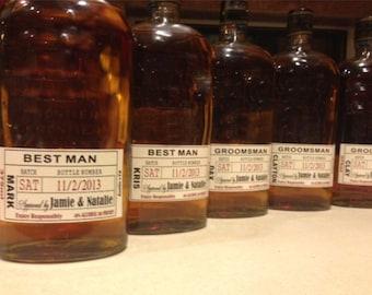 Will you be my Groomsman - Custom Wedding Party - Groomsman Liquor Labels - Bourbon - Whiskey - Best Man Labels (5)