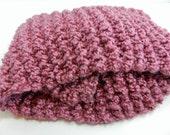 Warm & Cozy Knit Berry Scarf