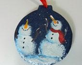 Happy Snowmen Holiday Tree Ornament