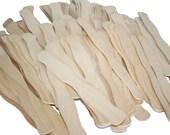 100-Wavy Fan Sticks, Paddle Fan Stick, Wooden Fan Handle, Wedding Fan Sticks, Unfinished Wood Fan Sticks, Auction Paddle, Bid Paddle