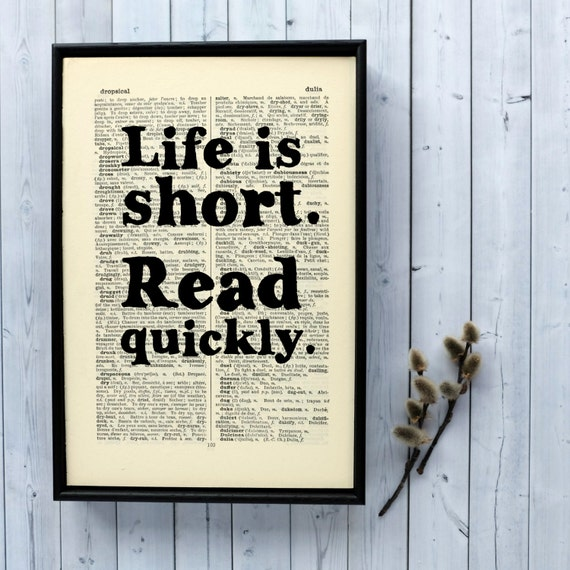Literary Gift Book Lover Gift Humorous Quote by BookishlyUK