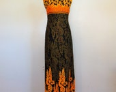 60s Indonesian Thai cotton maxi dress size small