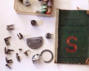 Singer Sewing Machine Instruction Book Class 16, Pressure Feet & Pre-wound Bobbins