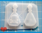 SALE MFL Exclusive 2 New Poison Bottles Handmade Plastic Resin Mold