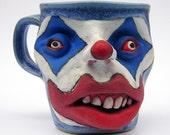 Eye Watch You Always Handmade Stoneware Love Clown Coffee Cup