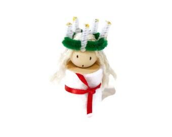 Handmade Scandinavian St. Lucia figurine