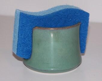 Sea Foam Green Ceramic Sponge Holder | Made to order