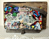 Grey messenger shoulder bag crossbody totebag marvel comics comiccon 5 Pockets-- Ready to Ship--