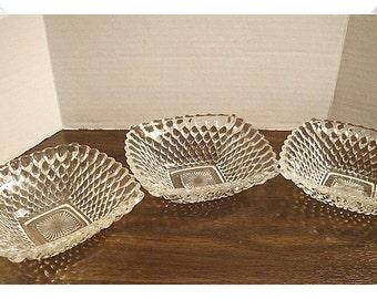 Vintage Square Glass Dish/ Single OR Set(s)/Home Decor*