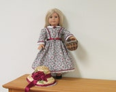1850's Civil War Day Dress, Bonnet, Pantaloons for American Girl Doll like Marie Grace, Addy or Cecile