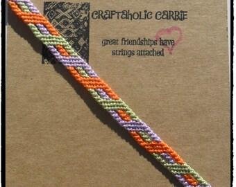 Woven Halloween themed Stripe with a Twist Friendship Bracelet