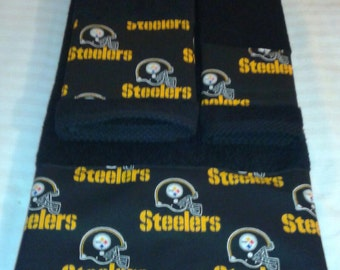pittsburgh steelers bath towel set handmade all teams available great gift
