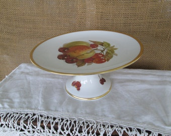 German Compote Germany China German China Compote Fruit Decor Fruit Motif Gold Rim China Bavaria Footed Compote Vintage Schumann Arzbero