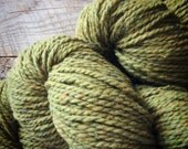 Wool knitting yarn - Peace Fleece worsted weight - for knitting - olive green knitting wool - gifts under 10 - Phoebe - wool knitting yarn