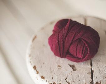 Newborn Wrap - Baby Wrap - Stretch knit wrap - Photography Prop - layer - Raspberry -