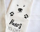 Dog Paws to Dry 100% Linen Tea Towel