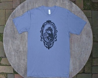 Game of Thrones Tee / Three Eyed Raven Tshirt / Gothic Tee / American Apparel
