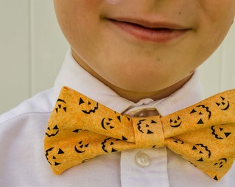 Bowtie - Baby, Toddler, and Little Boys Jack-o-Lantern Bowtie