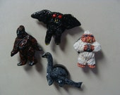 Famous Cryptids Magnet Set(Miniature Style)