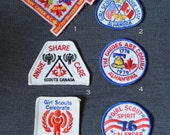 Moonrise Kingdom colors, girl guides/girl scouts vintage badges, you choose one, group D, red, white, and blue