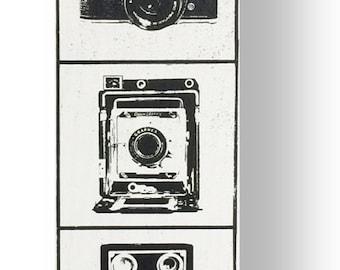 Vintage Retro Camera sign Vertical 7 x 31