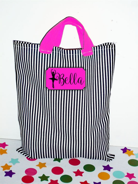 Halloween Trick or Treat Bags - Personalized Canvas Bag - Children's Tote Bag - Customized 2 Color Tote Bag - 10 x 12 with Name - Modern Bag