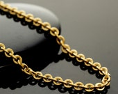 Solid Brass 3.5mm Links - Oval Cable Chain - By the Foot or Finished  - Made in the USA