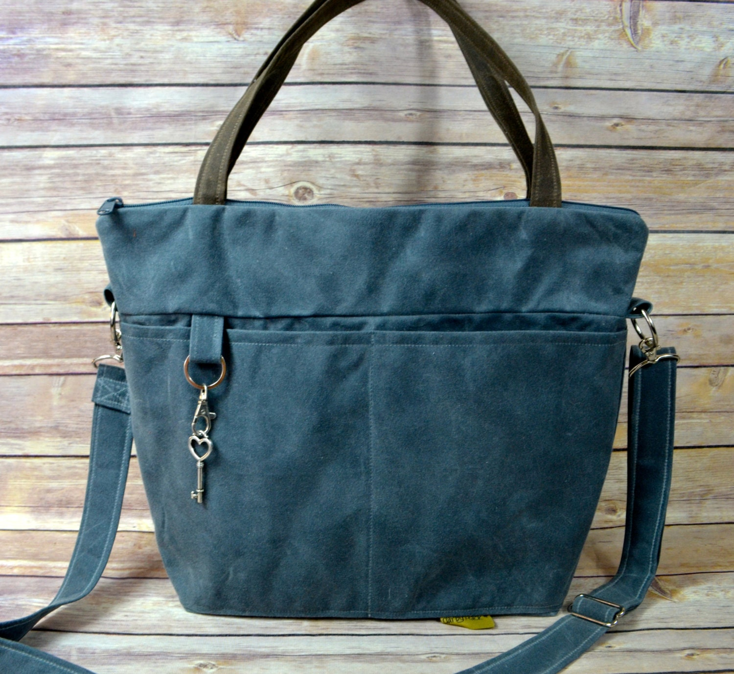 Unique Waxed Canvas Tote Bag Women39s Shoulder Bag Vintage By