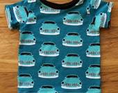 Baby t-shirts in organic cotton Vintage Cars, baby clothes, baby tops