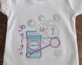 Bubbles Birthday Shirt Girls Color Outline Bubbles Blowing Birthday Theme