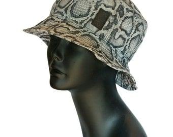 Snakeskin Bucket Hat