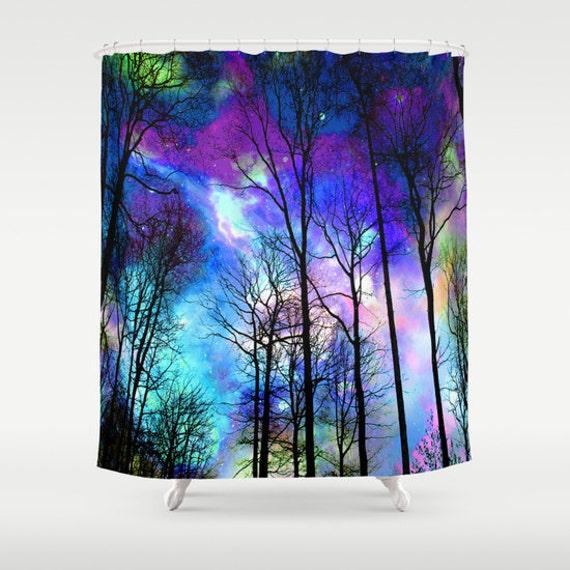 Fantasy sky shower curtain colorful sky shower curtain purple for Fantasy shower curtains