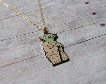 Vintage Yoda Necklace, Star Wars Necklace, Star Wars Collectible, Yoda Pendant