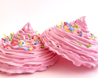 KATY PERRY BRA set of 2 oversize fake cupcake frosting great for katy perry costume very easy to attach to bra- Cupcake Bra