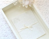 SALE ~ Wedding Wishes Guestbook Box, Program Box, Guestbook Alternative