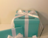 3 Sets, 1 tier Blue Wedding Card Box, Guest book and Pen/Pen Holder .Gift Card Box Money Box Holder-Customize your color