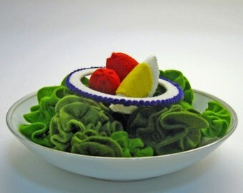 Natural Wool Felt - Lettuce Salad - Accessory for Imaginative Play