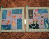 Children in the Snow Kitchen Potholder Set