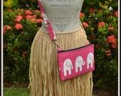 Bubble Gum Pink Elephant Cross Body Bag - iPad Mini - Day Bag