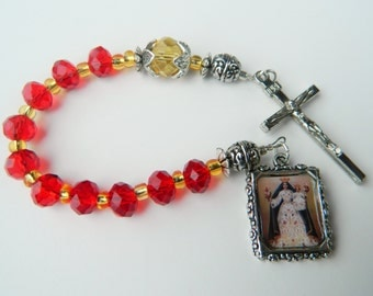 Virgin of Candelaria aka Our Lady of Candles Decade/ Tenner Prayer Chaplet Rosary