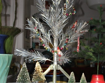 Aluminum Christmas Tree Original Mid Century 2 foot  VINTAGE by Plantdreaming