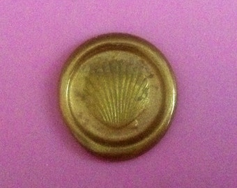 Seashell Flexible Peel and Stick Faux Wax Seals